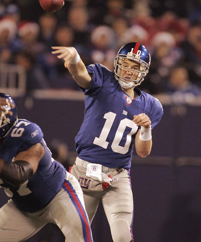 Now that older brother Peyton has finally raised the Lombardi Trophy, Eli knows critics will start asking if he can do the same. Oh, and he's playing for a franchise that hasn't won the big one since January 1991. No pressure there.