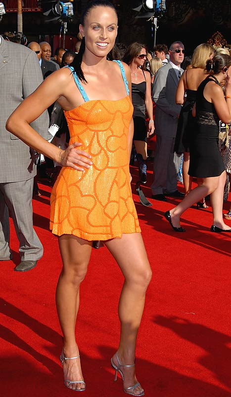Swimmer Amanda Beard arrives at the 2007 ESPY Awards.