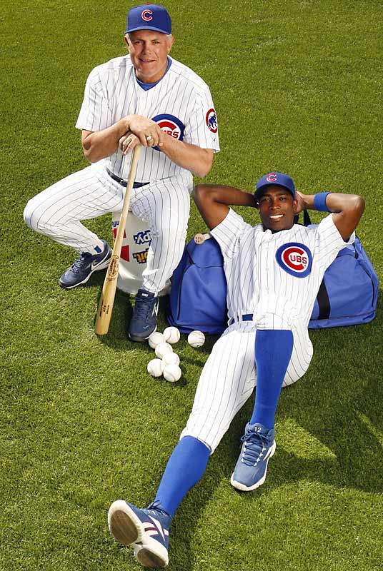 SI photo shoot of Cubs manager Lou Piniella and Alfonso Soriano in 2007.