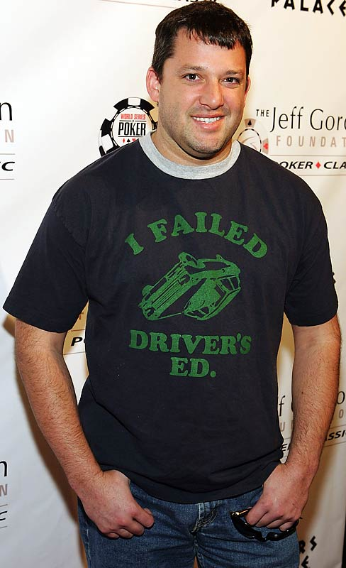NASCAR driver Tony Stewart at the Jeff Gordon Foundation Poker Classic at Caesars Palace in 2006.