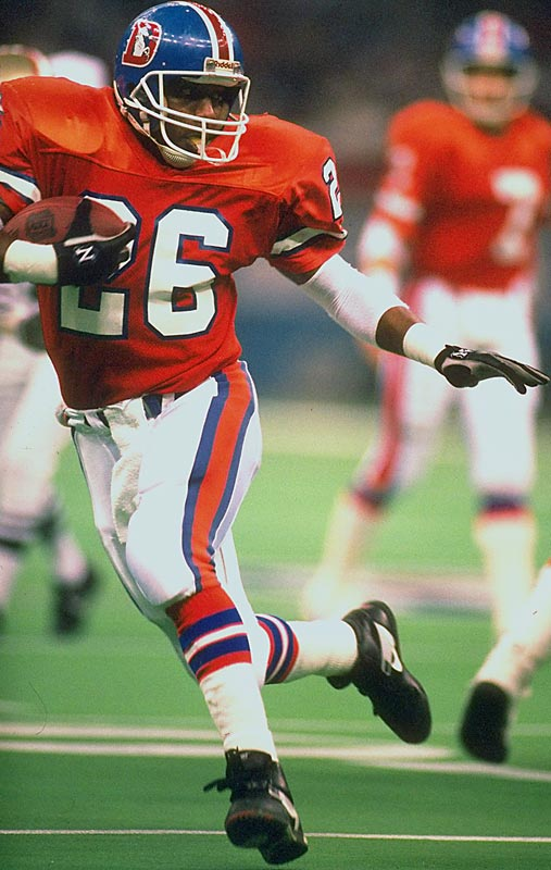 A stud running back out of Alabama, Humphrey was picked up by the Broncos in the first round of the 1989 supplemental draft. Though injuries cut his career to four seasons, he led the Broncos to the Super Bowl and was the Rookie of the Year in '89. He was also a Pro Bowl selection the following season.