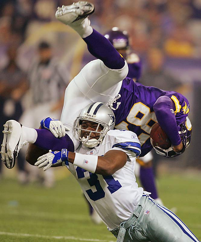 "When NFL owners voted to ban the ""horse collar"" tackle in 2005, journalists referred to it as the ""Roy Williams Rule."" Williams' use of the tactic in 2004 led to three significant injuries for his foes. Though the horse collar tackle is no longer in his arsenal, he still delivers vicious hits."