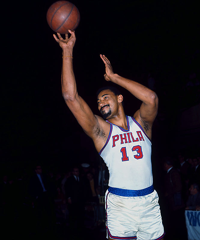 After spending his first three pro seasons in his native Philadelphia, the Big Dipper and the rest of his Warriors team relocated to San Francisco in 1962. But Chamberlain, the game's most dominating offensive player, returned to Philly on Jan. 15, 1965, as a member of the 76ers (formerly the Syracuse Nationals). In exchange for Chamberlain, the financially strapped Warriors received guard Paul Neumann, center-forward Connie Dierking, forward Lee Shaffer and cash. Chamberlain won three consecutive MVP awards and the 1967 title (over the Warriors) with the 76ers before being dealt to the Lakers.