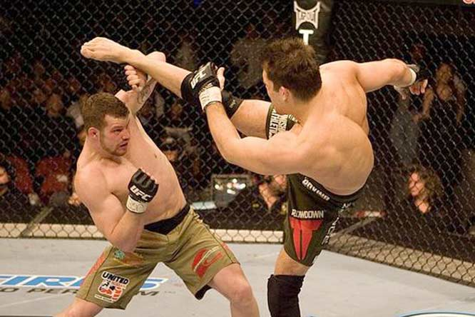 Marquardt (left) is an unconventional choice as a future superstar for two reasons. First, he is an experienced veteran of MMA and former King of Pancrase. Second, he lacks the charisma or style that suggests stardom. However, he is still a young man at 28 and largely unknown to UFC fans. More importantly, he has an upcoming title shot with Anderson Silva and a victory would immediately make fans take notice of his talent.