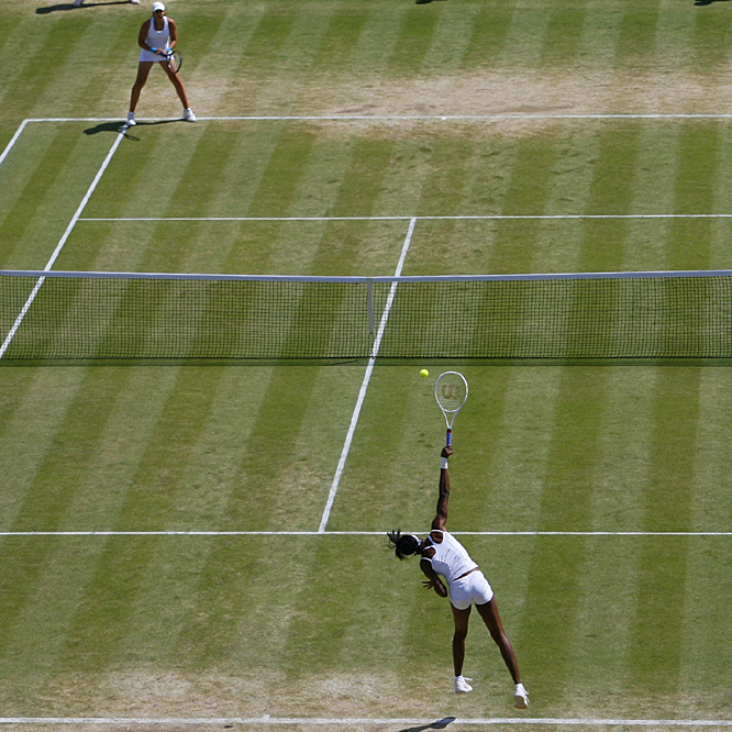 Venus Williams' sixth major title came in her 12th Grand Slam final, sixth at the All England Club.