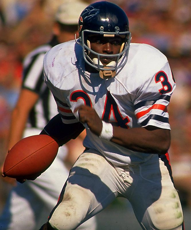 At 23 and in his third season, Payton rushed for 1,852 yards and scored 14 touchdowns to earn the 1977 MVP award.