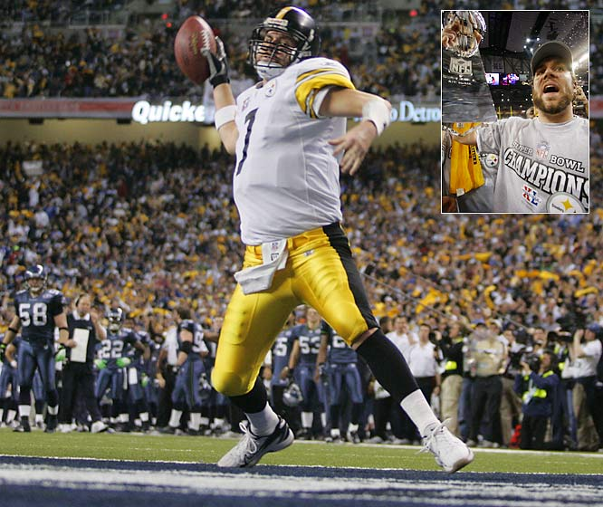 At 23, Roethlisberger eclipsed Tom Brady in this category when he led the Steelers to a 21-10 win over Seattle in Super Bowl XL.