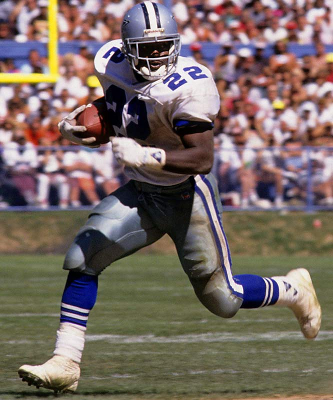 At 22 and in his second season, Smith dashed for 1,563 yards in 1991.