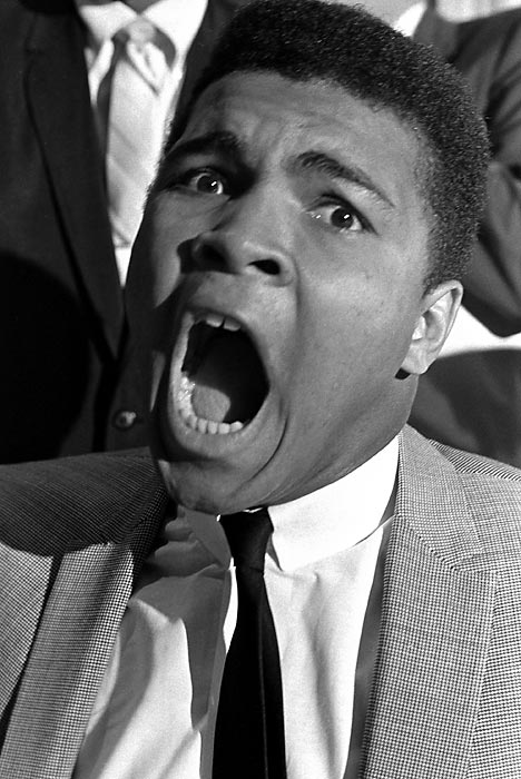 Muhammad Ali's mouth.