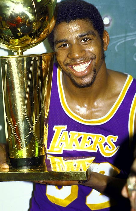 Magic Johnson's smile.