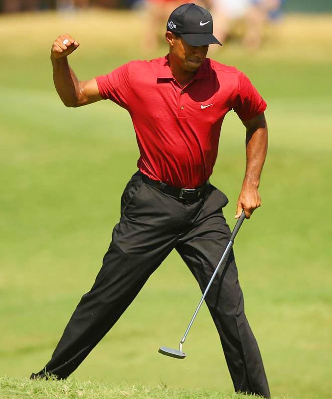 Tiger Woods' fist pump.