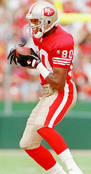 Jerry Rice's hands.