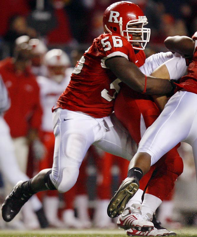 Foster is the heart and soul of the Rutgers D. Foster is a bit undersized at 260 pounds, but he makes up for it with superior athleticism. His six sacks in '06 were an impressive sum for a defensive tackle.