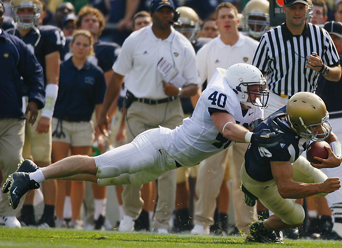 Connor moves to middle linebacker, replacing iconic Nittany Lion Paul Posluszny. The 6-foot-3, 233-pounder is only 98 tackles short of breaking Posluszny's career-tackles record of 372.