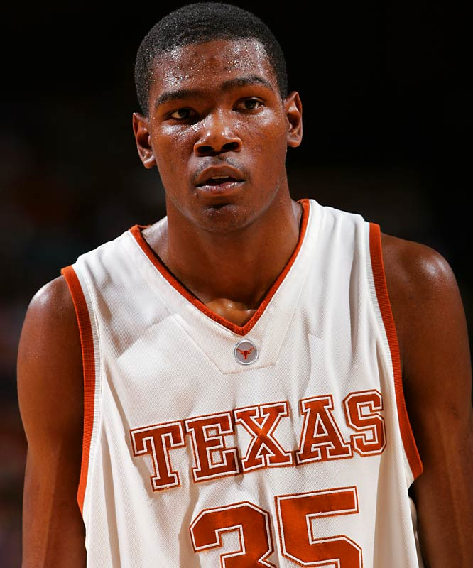 He was in Austin for only one year, but what a year it was. Durant averaged 26 points and 11 rebounds (29/13 in Big 12 play) and won numerous accolades including NABC Division I Player of the Year, Naismith Player of the Year, and the John R. Wooden Award. He is also the only freshman in NCAA history to be named the AP National Player of the Year.
