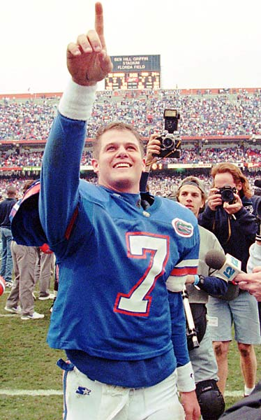 Wuerffel was one of the most decorated athletes in Florida history. He led the gators to four consecutive SEC titles from 1993-1996. As a senior, the quarterback won the Heisman Trophy and led the Gators to the national championship. He was a first team All-American in '95 and '96 and won the O'Brien Award both seasons.