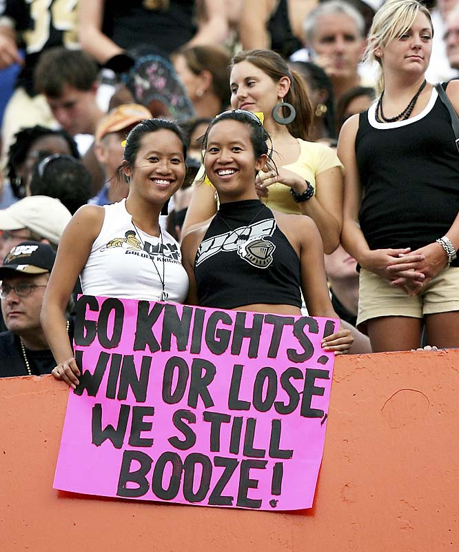 These Central Florida students reflect the thoughts of many college football fans. The only difference is these ladies came right out and said it.