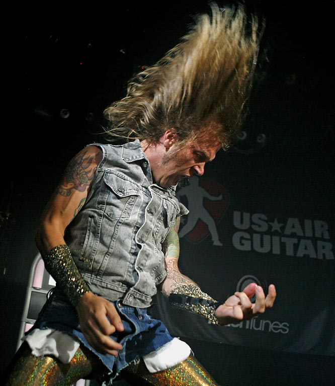 "Somehow this guy,  Ryan ""Stryker"" Strecker, lost in the US Air Guitar National Finals this past Thursday. Andrew ""William Ocean"" Litz went on to win and will represent the United States at the Air Guitar World Championship in Olou, Finland in September."