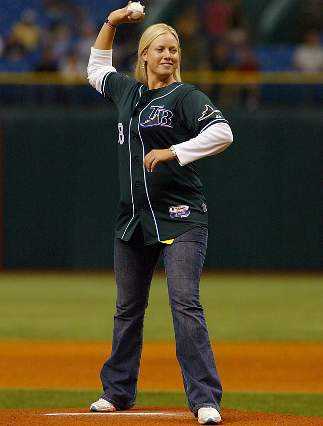 Williams wasn't the only celebrity that the Devil Rays featured. LPGA golfer Brittany Lincicome threw out the first pitch before Wednesday's game.