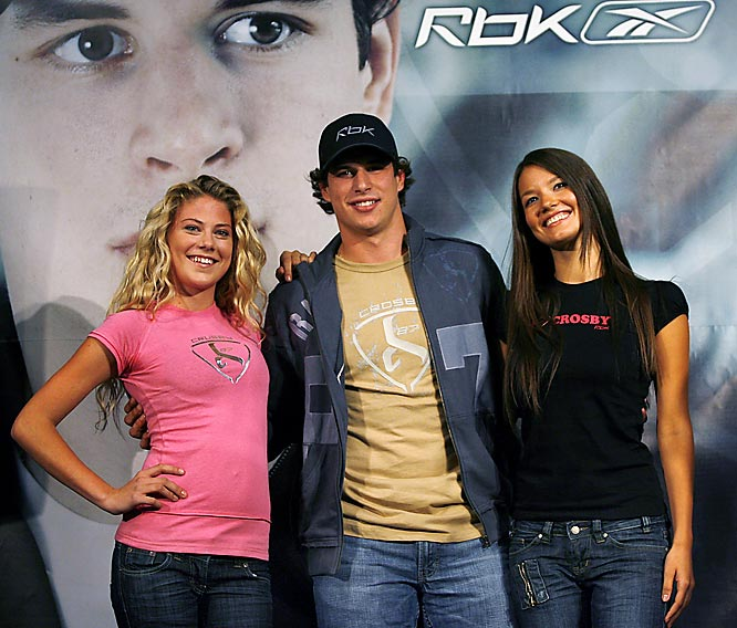 Sidney Crosby has a good time introducing his new line of clothing earlier this week.