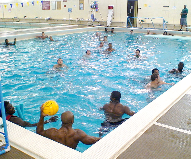 Central Michigan players took part in a four-team water polo league every Friday at 6 a.m. this summer.