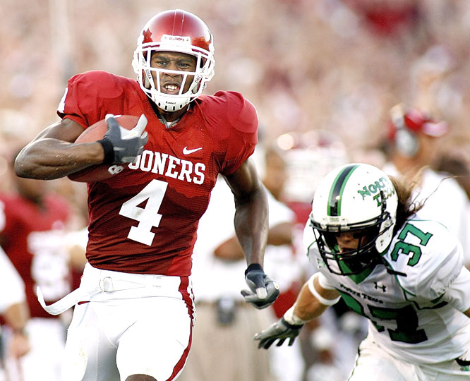 Malcom Kelly caught four balls for 117 yards and two touchdowns as the Sooners put together their most lopsided win in a season opener since they beat New Mexico State 73-3 to start the 1989 season.
