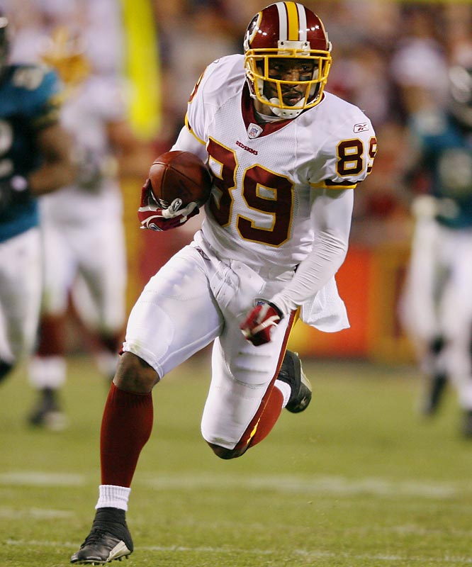 The older brother of the Giants kick returner (Sinorice, also a speed demon), Santana is a three-time Florida state track champion (twice - triple jump; once - long jump). In 2005, he set the Redskins' club record with 1,483 receiving yards (and nine touchdowns).