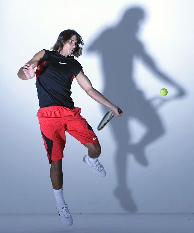Walter's take: ''We did this one in a studio in New York, just before last year's U.S. Open. We put a strobe on the floor to create the shadow behind him. He showed up with no wardrobe, so for an hour we shot him with no shirt on. Then they finally brought some tennis clothes, so we had about five minutes left to get him in this outfit. He was a great kid with great energy, despite the language barrier. Fun to watch.''  Shot with: Canon EOS-1Ds Mark II, EF 24-105mm
