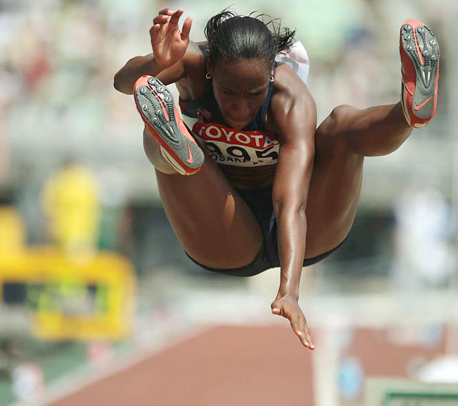 Rose Richmond in the long jump on Day 3.