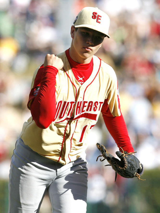 Kendall Scott struck out 10 and allowed one hit in relief against Japan for Warner Robins, Ga., which beat Lubbock, Texas, to reach the final.