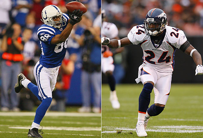 """Week 4 - September 30<br><br>Such is the game of back-and-forth in the NFL. The Broncos traded for Bailey in '04 as a means of stopping Harrison, who'd torched them for 32 catches and four TDs between 2001 and '03. Since then Bailey has limited Harrison to an average of five catches and 41 yards in three games. Of facing the six-time All-Pro, Peyton Manning has said, """"That's why you throw a lot in the off-season, with nobody covering. You pretend it's Champ Bailey covering. You have to throw a perfect throw and run a perfect route."""" Harrison doesn't have much left to prove in his career, but regaining the upper hand on Bailey, the NFL's best cornerback, would be sweet."""