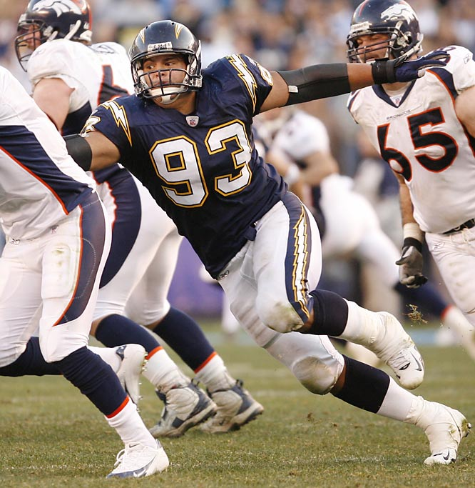 Castillo was limited by an ankle injury in 2006, but still earned second-alternate status for the Pro Bowl.  With so much talent on San Diego's defense, offenses will have limited resources to slow Castillo, so the third-year player could easily reach double-digits in sacks.