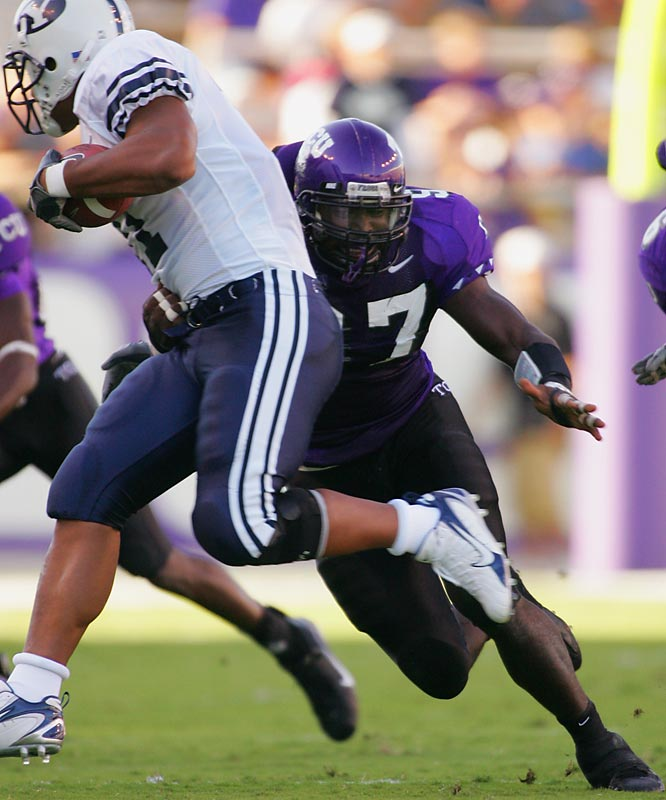 Blake is the most talented player on an imposing TCU defense. Blake led the Mountain West with 16.5 tackles for loss and seven sacks, while recording an impressive 54 tackles from the defensive end spot. He missed five practices earlier in camp, citing personal reasons, but he has returned to action.