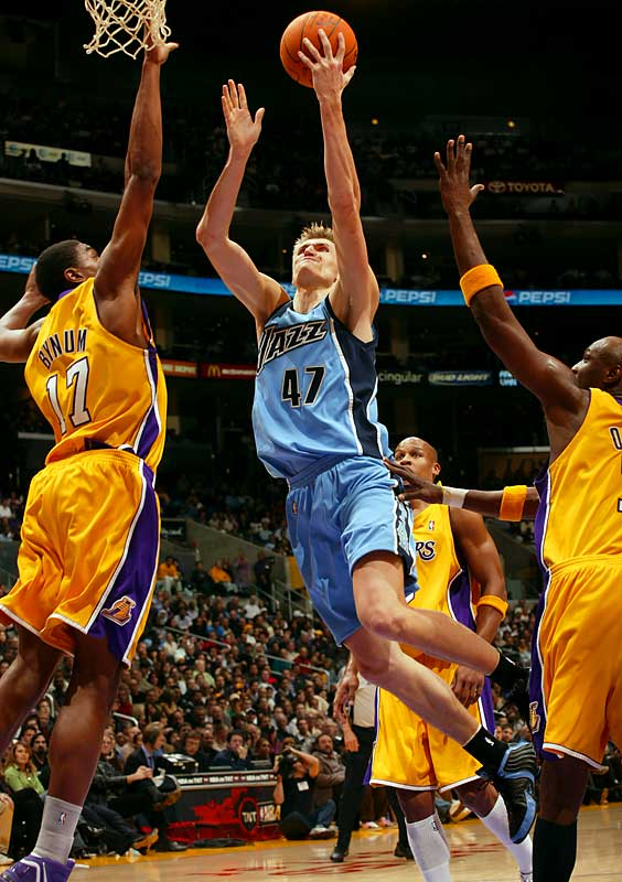 Kirilenko was a non-factor in the Jazz offense (much to his chagrin) and saw his playing time decline sharply during a disappointing season that sparked speculation about a possible trade. Given his uneasy relationship with coach Jerry Sloan and owner Larry Miller's lukewarm endorsement for keeping the versatile but high-priced forward, those trade rumors seem bound to resurface.