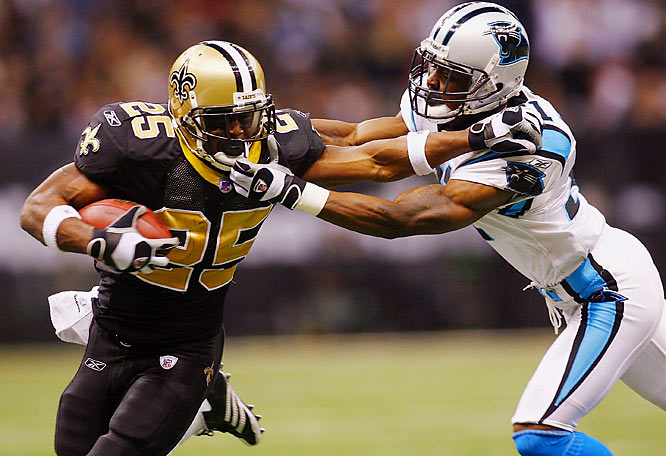 With a playoff berth already clinched, Reggie Bush and the Saints lost 31-21 to the Panthers.