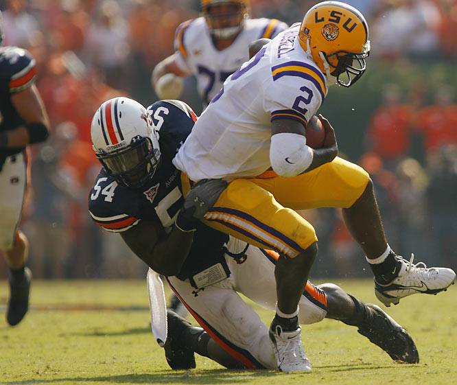 The defensive end surprised many when he decided to return to Auburn for his senior campaign. Groves needs just four sacks to set Auburn's career record.