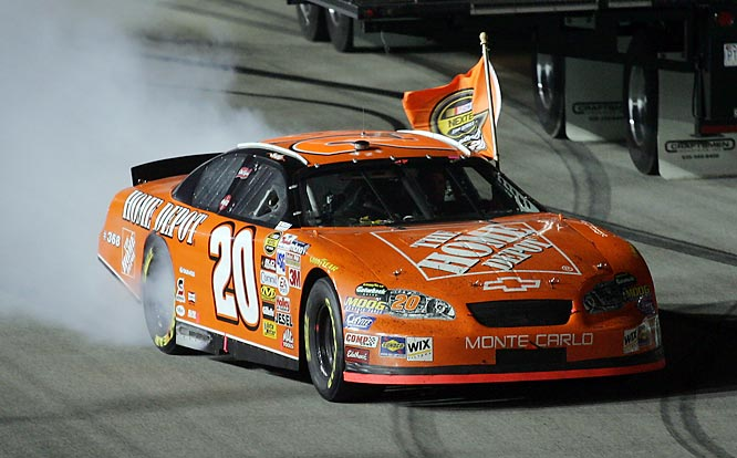 During a season in which Stewart was applauded for maturing off the track, his performance on the track was unmatched. A summer hot streak of five wins in seven races catapulted him into the point lead, and once the Chase began, he didn't let up, winning his second Cup trophy in four years.