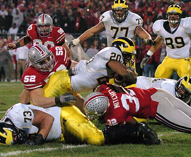 Last season's game lost a bit of luster after both teams were blown out in their bowl games, but the contest was still one of '06's finest. Michigan enters this year as the overwhelming Big Ten favorite, but the Wolverines have lost three straight -- and five out of six -- to the Buckeyes. Don't be surprised if this showdown serves as the de facto Big Ten championship game ... again.