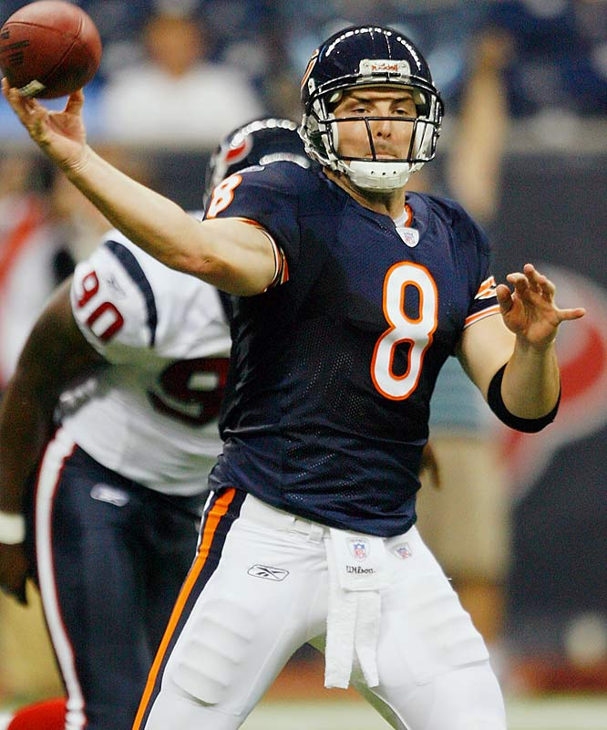 Although it's only preseason, the Bears have to be relieved Rex Grossman showed no ill effects from his Super Bowl meltdowns. Grossman completed his first eight passes in a 20-19 win over the Texans.