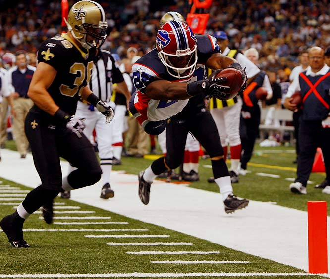 Jackson had an impressive 17-yard touchdown run in the Bills' 13-10 win over the Saints. He ended up with 49 yards on eight carries and may now fit into Buffalo's RB rotation.