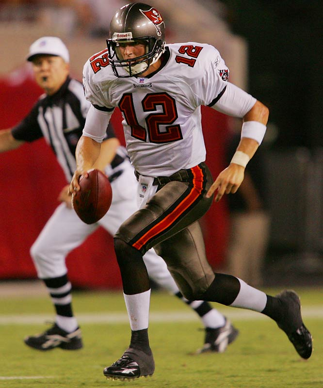 McCown is giving Chris Simms something to think about as a few Bucs QBs compete for the backup job to Jeff Garcia. McCown was 7-for-7 for 68 yards and a touchdown in Tampa Bay's 13-10 win over New England.
