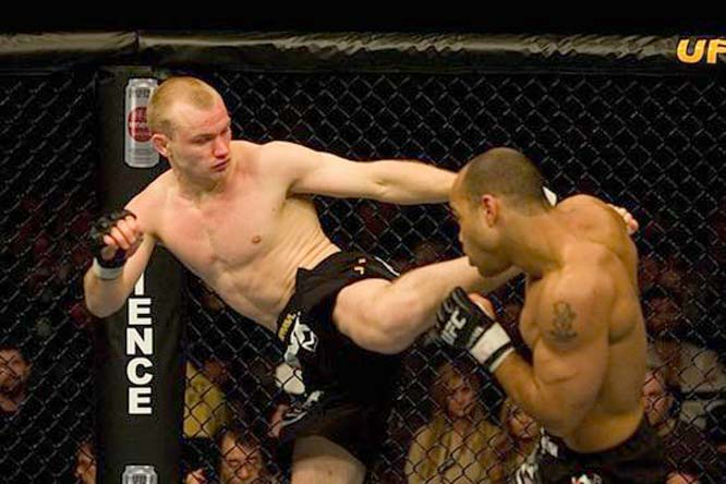 Kampmann (left) spent the early portion of his career fighting in Europe. He signed with the US-based World Fighting Alliance in 2006 before joining the UFC. Following three impressive UFC wins, Kampmann is a top middleweight contender.