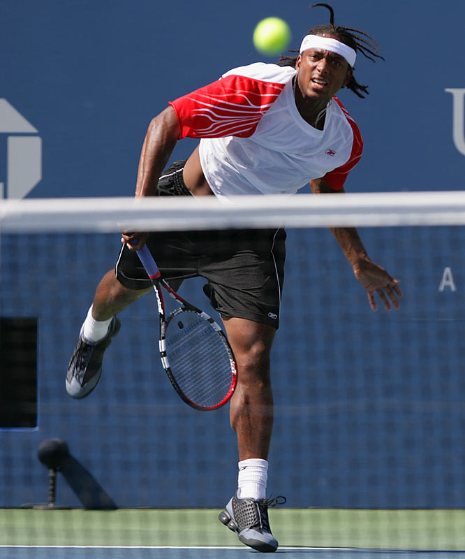 Scoville Jenkins, 21, who came into the match ranked No. 320, committed 31 unforced errors, including seven double faults, and failed to break Federer's serve once.
