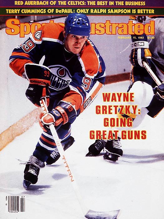 The Great One was never greater than in 1982. On Feb. 24 of that year, Edmonton's Wayne Gretzky broke Phil Esposito's record for most goals in a season (76), scoring three goals to help beat the Buffalo Sabres. Gretzky finished the season with NHL records of 92 goals and 212 points.