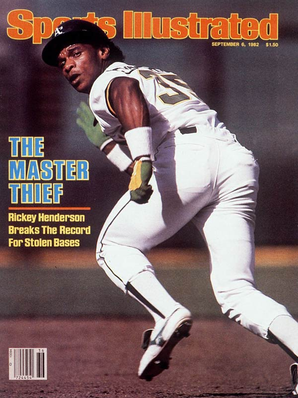 Speed kills. So did Ricky Henderson when it came to disrupting opponents on the base paths. By swiping  four bases on Aug. 27, 1982, Henderson broke the  single-season record he had shared with Lou Brock for most stolen bases in a season. He finished the year with 130 steals and had 1,406 for his career. Henderson is now a coach with the Mets.