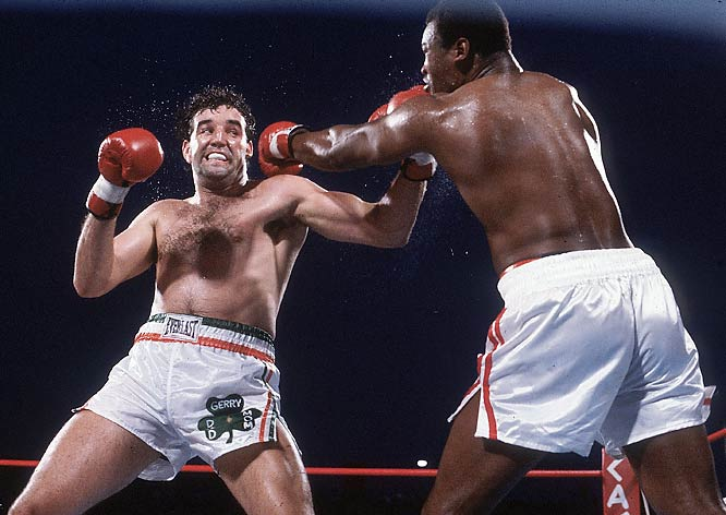 The Great White Hope. That's what they called Gerry Cooney prior to his WBC heavyweight fight with Larry Holmes, a boxing promotion framed by Don King along racial lines. Holmes ended up stopping Cooney in the 13th round on June 11, 1982, and successfully defended his title 20 times before losing to Michael Spinks.