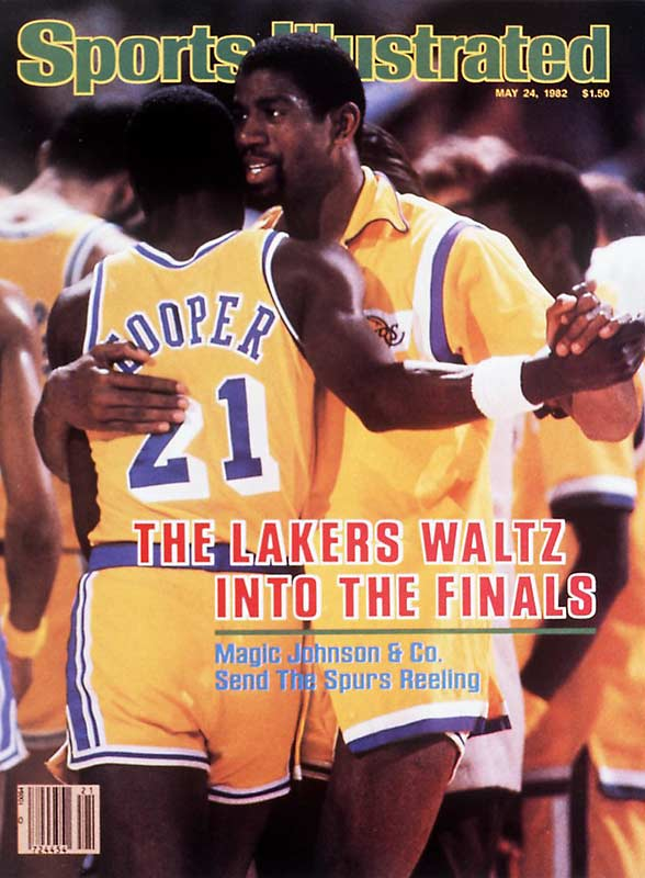 Do you believe in Magic? The Sixers did in 1982 after Magic Johnson posted triple 13's --13 points, 13 rebounds and 13 assists -- to lead the Lakers to a 114-104 win in Game 6 of the Finals, earning their second NBA title in three years. Johnson  would go on to lead the Lakers to five titles and is now a businessman and analyst for TNT Sports.