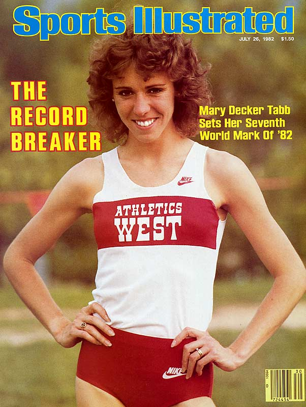 Running supernova Mary Decker set six world records in '82, at distances ranging from the mile to the 10,000, and received the Sullivan Award. Alas, she always seemed snakebitten at the Olympics, no more so than in 1984, when she famously collided with Zola Budd in the 3,000 finals in Los Angeles.