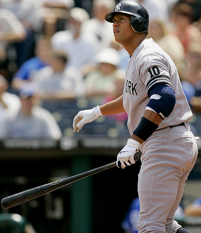 Alex Rodriguez caps off a torrid September week with his sixth home run in four games, a two-run shot in the first inning off of Royals right-hander Zack Greinke. The Yankees went on to win 6-3, their fifth straight victory, a span during which A-Rod went 11-for-19 with seven home runs and 10 RBIs to all but clinch the AL MVP award.
