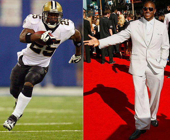 (Second in a series of galleries to determine the best dressed male athlete in professional sports. Go to the last frame to cast your vote.)<br><br>At home on a red carpet and dressed in all white in L.A., Reggie's made the fleur-de-lis fashionable in New Orleans. Like Bush himself, Saints' fans are head-over-heels for his style.